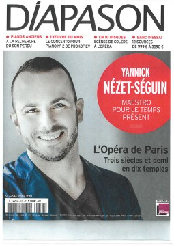 Yannick Nézet-Séguin on the cover of Diapason Magazine